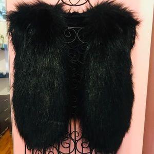 H&M and Jimmy Choo collaboration faux fur vest